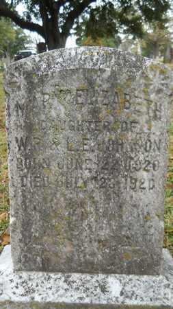 JOHNSON, MARY ELIZABETH - Caddo County, Louisiana | MARY ELIZABETH JOHNSON - Louisiana Gravestone Photos