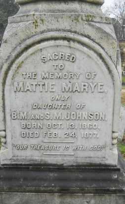 JOHNSON, MATTIE MARYE - Caddo County, Louisiana | MATTIE MARYE JOHNSON - Louisiana Gravestone Photos