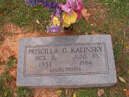 KALINSKY, PRISCILLA G - Caddo County, Louisiana | PRISCILLA G KALINSKY - Louisiana Gravestone Photos