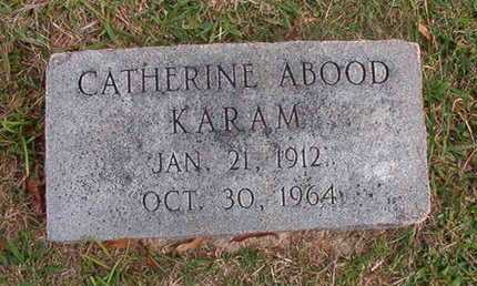 ABOOD KARAM, CATHERINE - Caddo County, Louisiana | CATHERINE ABOOD KARAM - Louisiana Gravestone Photos