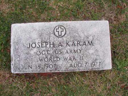 KARAM, JOSEPH A (VETERAN WWII) - Caddo County, Louisiana | JOSEPH A (VETERAN WWII) KARAM - Louisiana Gravestone Photos