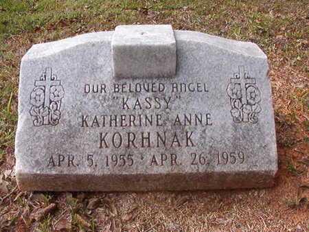 "KORHNAK, KATHERINE ANNE ""KASSY"" - Caddo County, Louisiana | KATHERINE ANNE ""KASSY"" KORHNAK - Louisiana Gravestone Photos"
