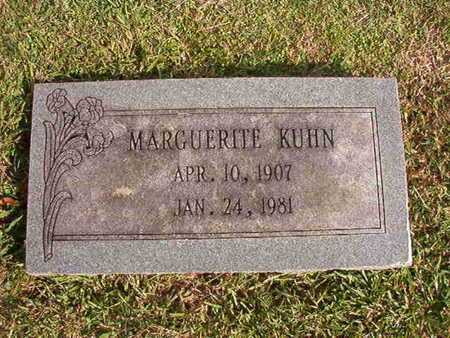 KUHN, MARGUERITE - Caddo County, Louisiana | MARGUERITE KUHN - Louisiana Gravestone Photos