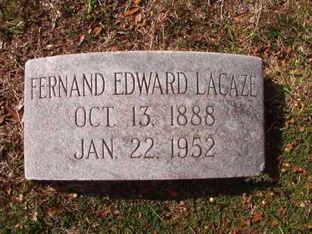 LACAZE, FERNAND EDWARD - Caddo County, Louisiana | FERNAND EDWARD LACAZE - Louisiana Gravestone Photos