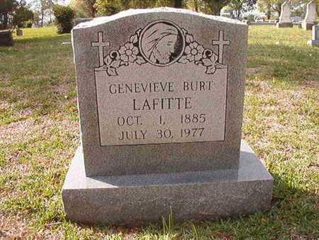 BURT LAFITTE, GENEVIEVE - Caddo County, Louisiana | GENEVIEVE BURT LAFITTE - Louisiana Gravestone Photos