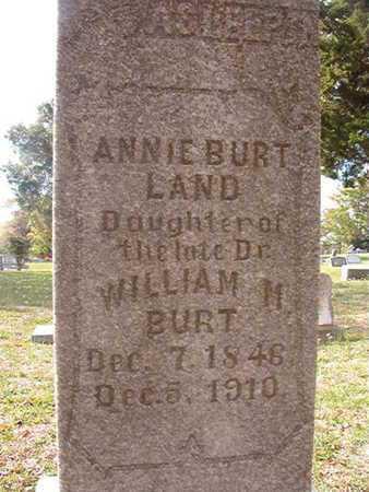 BURT LAND, ANNIE - Caddo County, Louisiana | ANNIE BURT LAND - Louisiana Gravestone Photos