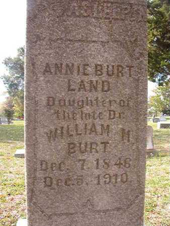 BURT LAND, ANNIE - Caddo County, Louisiana | ANNIE BURT LAND - Louisiana Gravestone Photos