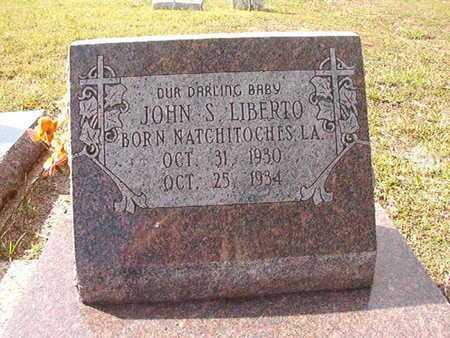 LIBERTO, JOHN S - Caddo County, Louisiana | JOHN S LIBERTO - Louisiana Gravestone Photos