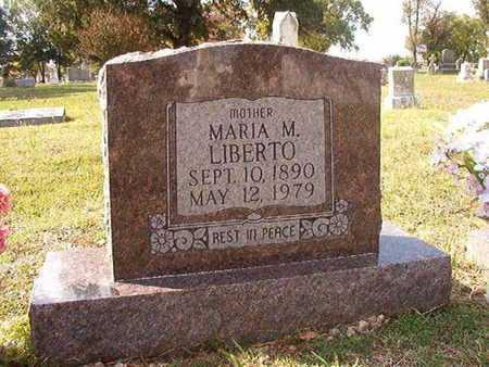 LIBERTO, MARIA M - Caddo County, Louisiana   MARIA M LIBERTO - Louisiana Gravestone Photos