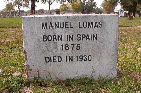 LOMAS, MANUEL - Caddo County, Louisiana | MANUEL LOMAS - Louisiana Gravestone Photos