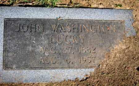 LUCKY, JOHN WASHINGTON - Caddo County, Louisiana | JOHN WASHINGTON LUCKY - Louisiana Gravestone Photos