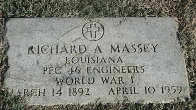 MASSEY, RICHARD A (VETERAN WWI) - Caddo County, Louisiana | RICHARD A (VETERAN WWI) MASSEY - Louisiana Gravestone Photos