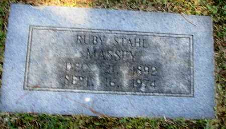 STAHL MASSEY, RUBY - Caddo County, Louisiana | RUBY STAHL MASSEY - Louisiana Gravestone Photos