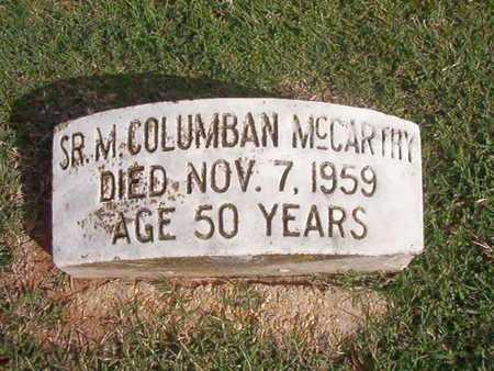 MCCARTHY, M COLUMBAN, SR - Caddo County, Louisiana | M COLUMBAN, SR MCCARTHY - Louisiana Gravestone Photos