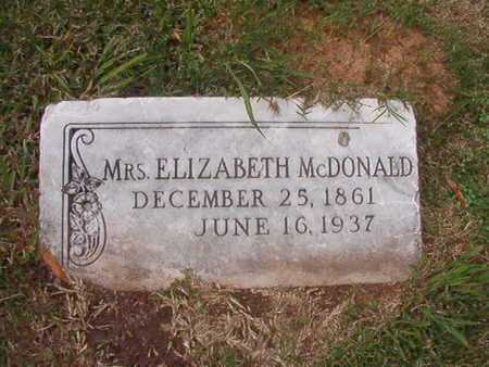 MCDONALD, ELIZABETH - Caddo County, Louisiana | ELIZABETH MCDONALD - Louisiana Gravestone Photos