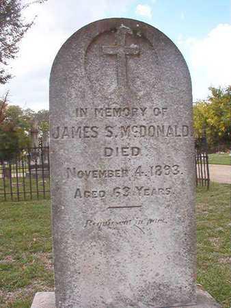 MCDONALD, JAMES S - Caddo County, Louisiana | JAMES S MCDONALD - Louisiana Gravestone Photos