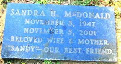 HAYES MCDONALD, SANDRA - Caddo County, Louisiana | SANDRA HAYES MCDONALD - Louisiana Gravestone Photos