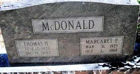 MCDONALD, THOMAS H - Caddo County, Louisiana | THOMAS H MCDONALD - Louisiana Gravestone Photos