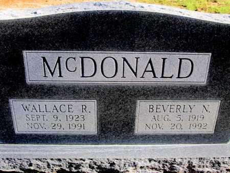 MCDONALD, WALLACE RAY - Caddo County, Louisiana | WALLACE RAY MCDONALD - Louisiana Gravestone Photos
