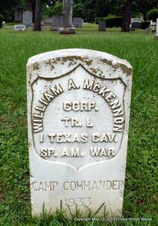 MCKENNON, WILLIAM A (VETERAN SAW) - Caddo County, Louisiana | WILLIAM A (VETERAN SAW) MCKENNON - Louisiana Gravestone Photos