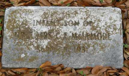 MCLEMORE, INFANT SON - Caddo County, Louisiana   INFANT SON MCLEMORE - Louisiana Gravestone Photos