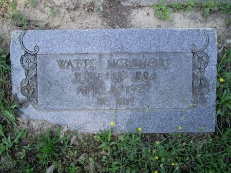 MCLEMORE, WATTS - Caddo County, Louisiana | WATTS MCLEMORE - Louisiana Gravestone Photos