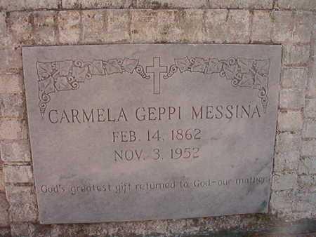 GEPPI MESSINA, CARMELA - Caddo County, Louisiana | CARMELA GEPPI MESSINA - Louisiana Gravestone Photos