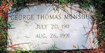 MONSOUR, GEORGE THOMAS - Caddo County, Louisiana | GEORGE THOMAS MONSOUR - Louisiana Gravestone Photos