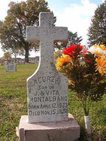 MONTALBANO, ACURZIO - Caddo County, Louisiana | ACURZIO MONTALBANO - Louisiana Gravestone Photos