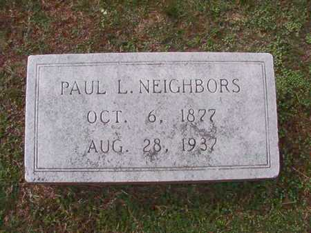 NEIGHBORS, PAUL L - Caddo County, Louisiana | PAUL L NEIGHBORS - Louisiana Gravestone Photos