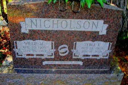 ATWOOD NICHOLSON, SYBLE E - Caddo County, Louisiana | SYBLE E ATWOOD NICHOLSON - Louisiana Gravestone Photos