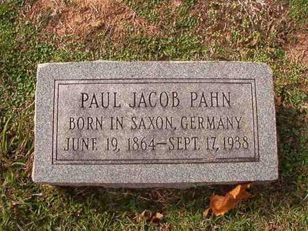 PAHN, PAUL JACOB - Caddo County, Louisiana | PAUL JACOB PAHN - Louisiana Gravestone Photos