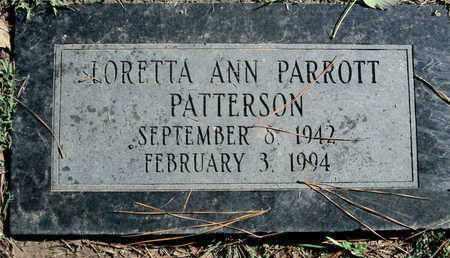PATTERSON, LORETTA ANN - Caddo County, Louisiana   LORETTA ANN PATTERSON - Louisiana Gravestone Photos