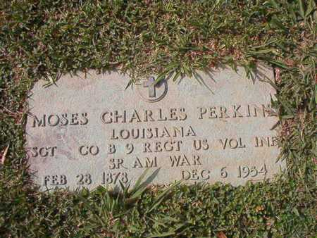 PERKINS, MOSES CHARLES (VETERAN SAW) - Caddo County, Louisiana | MOSES CHARLES (VETERAN SAW) PERKINS - Louisiana Gravestone Photos