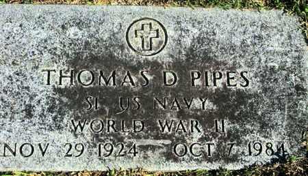 PIPES, THOMAS D (VETERAN WWII) - Caddo County, Louisiana | THOMAS D (VETERAN WWII) PIPES - Louisiana Gravestone Photos