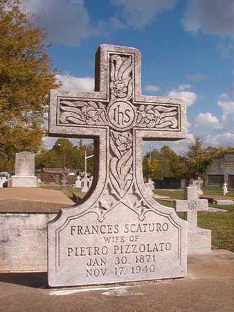 SCATURO PIZZOLATO, FRANCES - Caddo County, Louisiana | FRANCES SCATURO PIZZOLATO - Louisiana Gravestone Photos