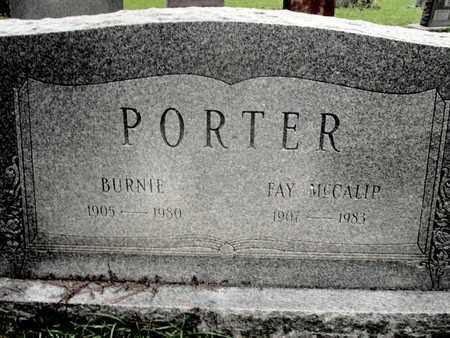 PORTER, BURNIE  (2 STONE) - Caddo County, Louisiana | BURNIE  (2 STONE) PORTER - Louisiana Gravestone Photos