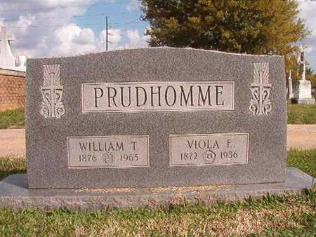 PRUDHOMME, WILLIAM T - Caddo County, Louisiana | WILLIAM T PRUDHOMME - Louisiana Gravestone Photos