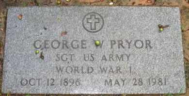 PRYOR, GEORGE W (VETERAN WWI) - Caddo County, Louisiana | GEORGE W (VETERAN WWI) PRYOR - Louisiana Gravestone Photos