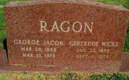 RAGON, GERTRUDE - Caddo County, Louisiana | GERTRUDE RAGON - Louisiana Gravestone Photos