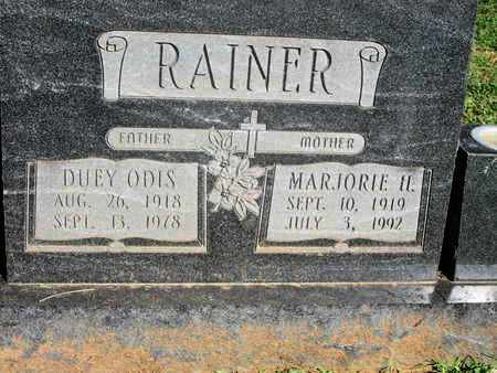 RAINER, DUEY ODIS - Caddo County, Louisiana | DUEY ODIS RAINER - Louisiana Gravestone Photos