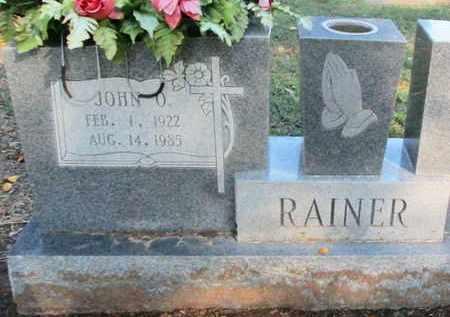 RAINER, JOHN O - Caddo County, Louisiana | JOHN O RAINER - Louisiana Gravestone Photos