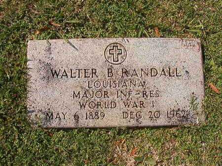 RANDALL, WALTER B (VETERAN WWI) - Caddo County, Louisiana   WALTER B (VETERAN WWI) RANDALL - Louisiana Gravestone Photos