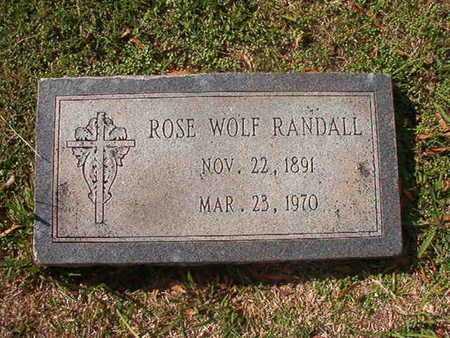 WOLF RANDALL, ROSE - Caddo County, Louisiana | ROSE WOLF RANDALL - Louisiana Gravestone Photos