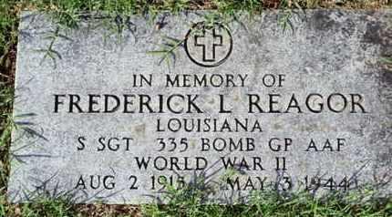 REAGOR, FREDRICK L (VETERAN  WWII) - Caddo County, Louisiana | FREDRICK L (VETERAN  WWII) REAGOR - Louisiana Gravestone Photos