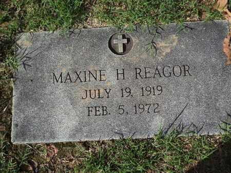 REAGOR, MAXINE H - Caddo County, Louisiana | MAXINE H REAGOR - Louisiana Gravestone Photos