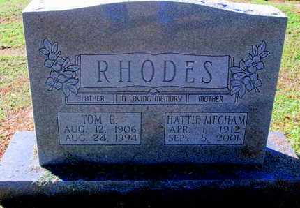 RHODES, TOM C - Caddo County, Louisiana | TOM C RHODES - Louisiana Gravestone Photos