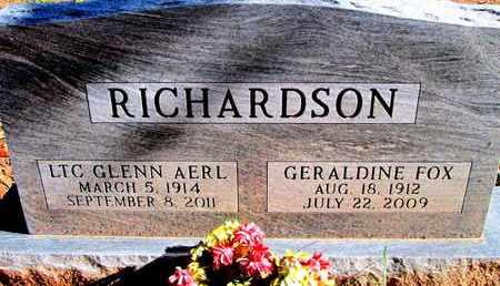 RICHARDSON, GLENN AERL (VETERAN WWII) - Caddo County, Louisiana | GLENN AERL (VETERAN WWII) RICHARDSON - Louisiana Gravestone Photos
