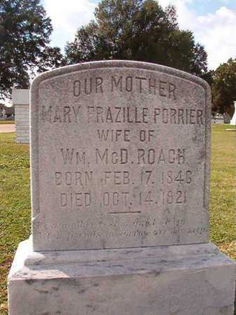 PORRIER ROACH, MARY FRAZILLE - Caddo County, Louisiana   MARY FRAZILLE PORRIER ROACH - Louisiana Gravestone Photos