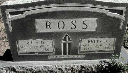 ROSS, BILLY D - Caddo County, Louisiana   BILLY D ROSS - Louisiana Gravestone Photos